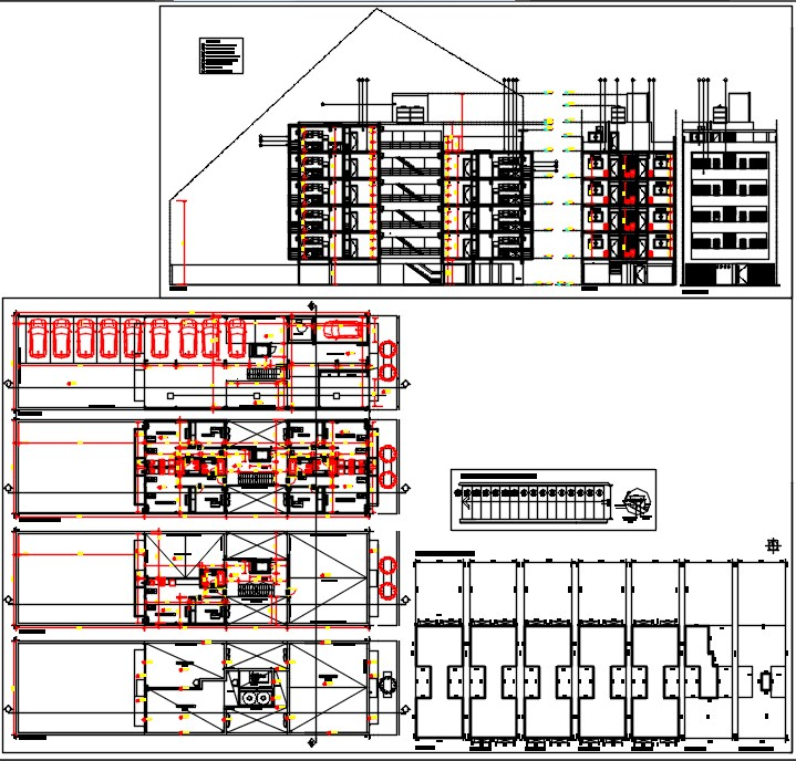Multi family building dwg.
