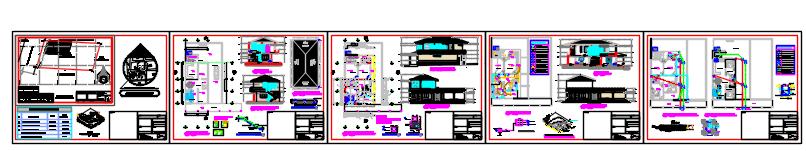 Multi family housing design drawing