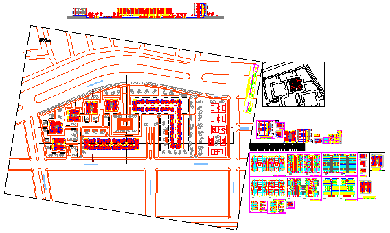 Multi family independence high rise building design drawing