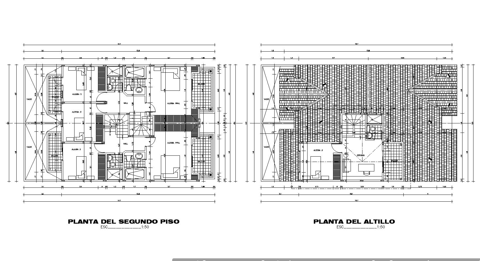Multi-family loft plan detail dwg file.
