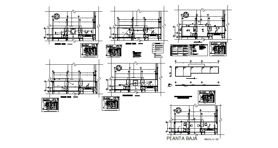Multi-flooring hospital detailed architecture project dwg file