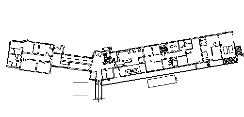 Multi-flooring hotel layout plan details dwg file