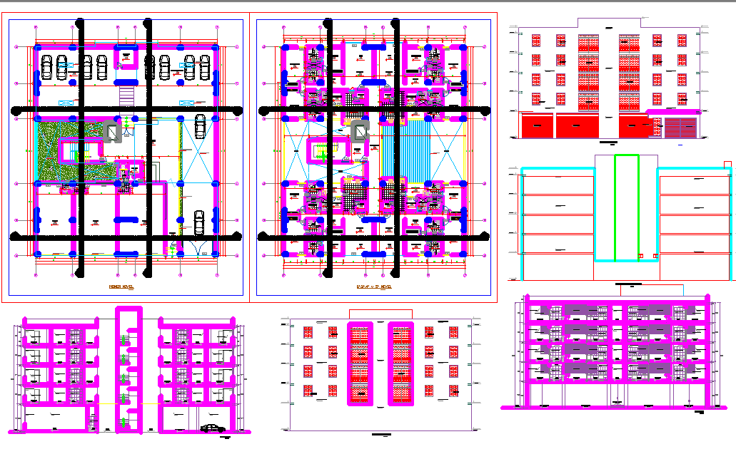 Multifamily Housing project dwg file