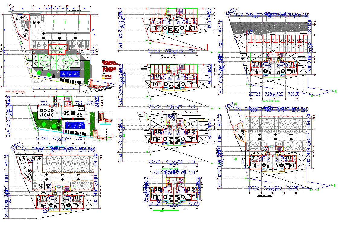 Multipurpose Building Project detail view autocad file