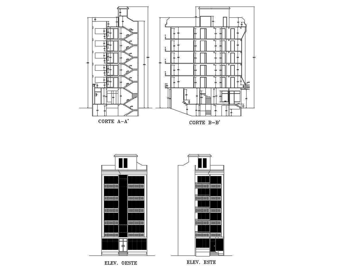 Multistorey Building  Design In DWG File