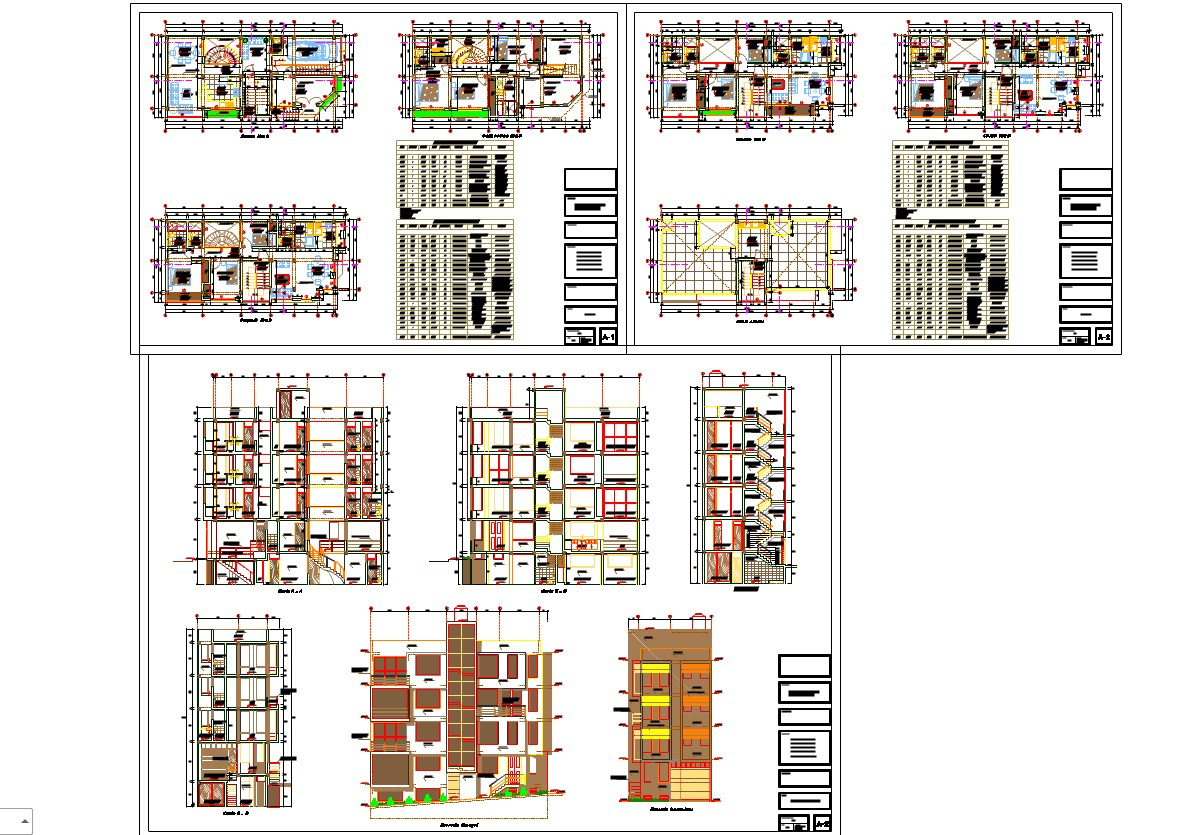 Multistory apartment architecture projects detail