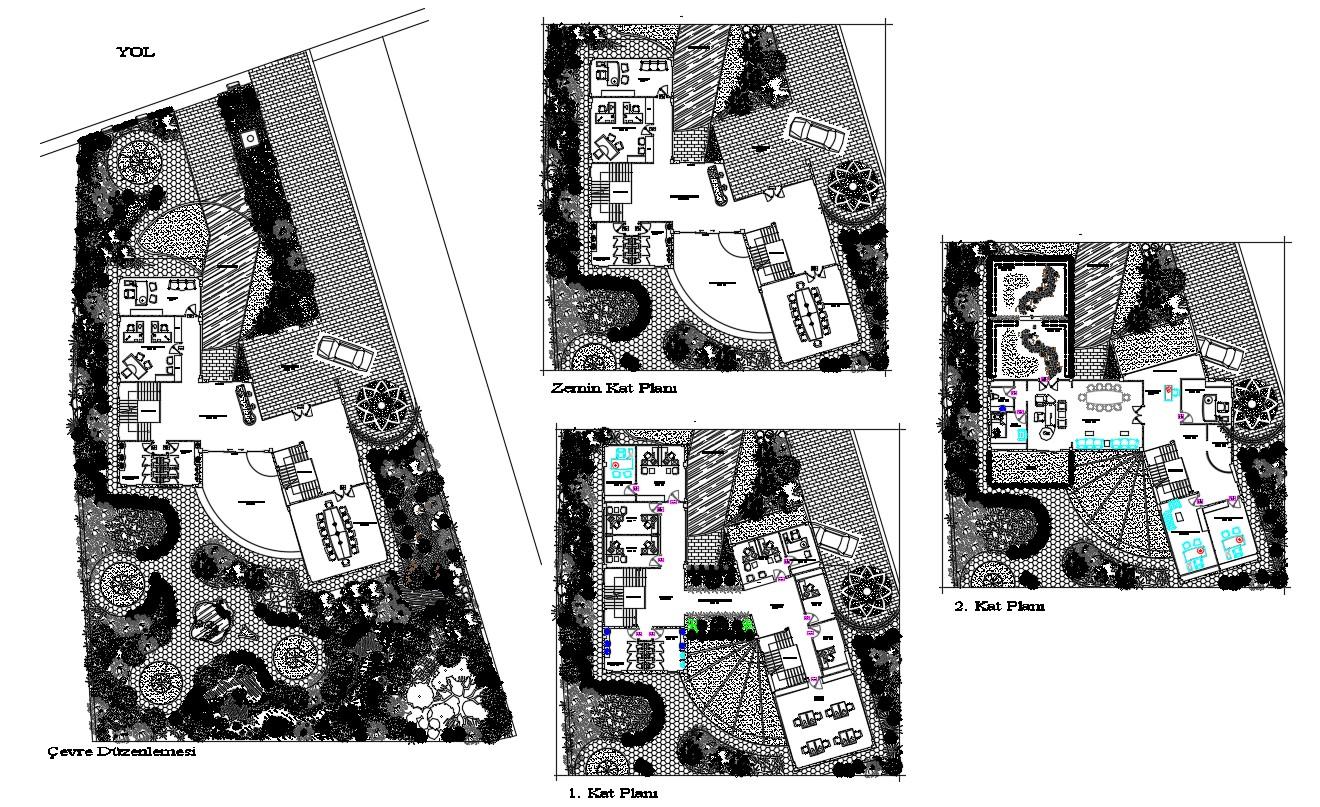 Municipal Floor Plan DWG File