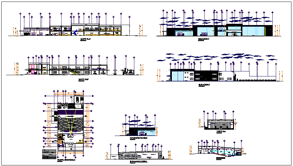 Municipal office plan detail dwg file