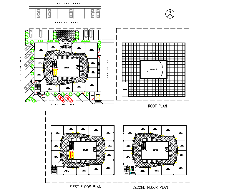 North direction Planing mall detail