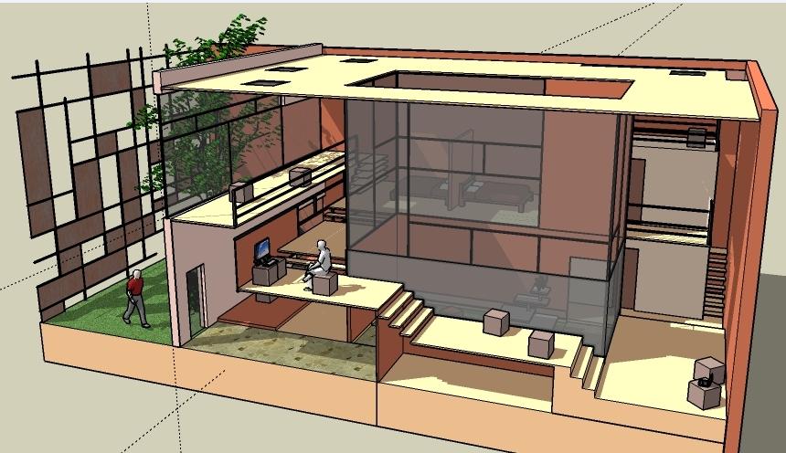 Office 3d elevation design