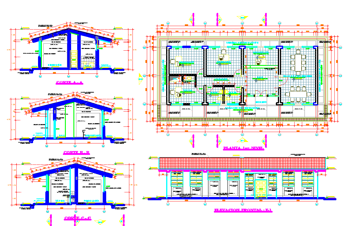 Office Building Design dwg file