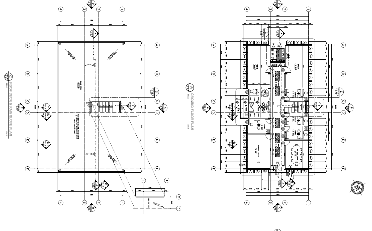 Office Building Layout plan detail