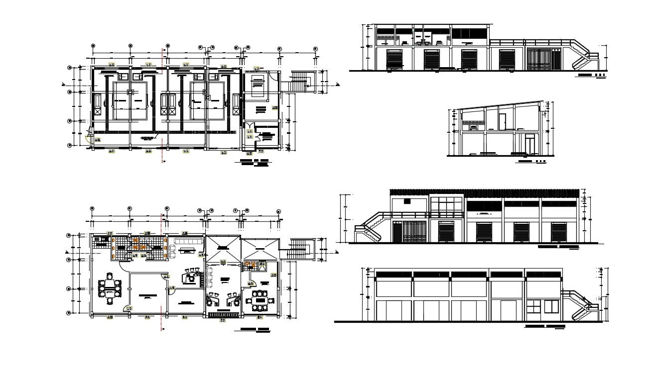 Office Building Plans In AutoCAD File