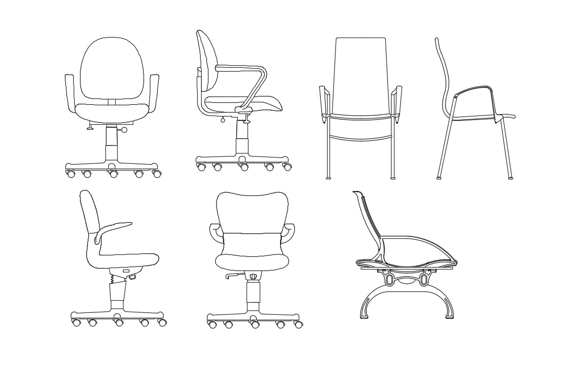 Fabulous Office Chair Cad Block Creativecarmelina Interior Chair Design Creativecarmelinacom