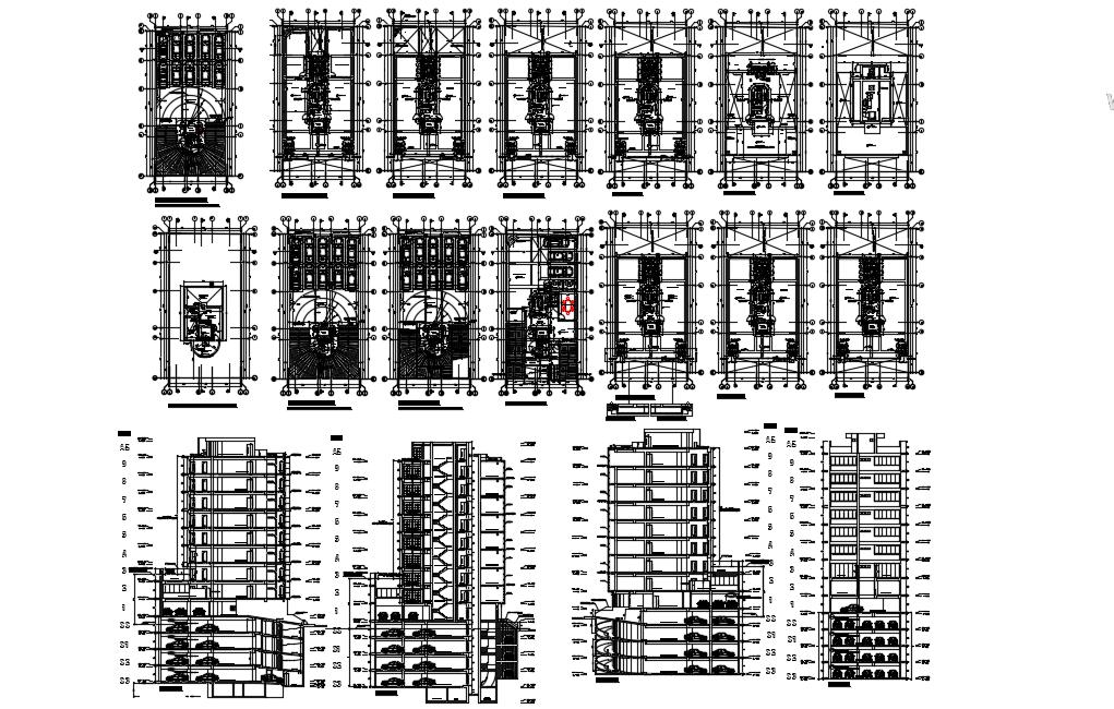 Office building AutoCAD file