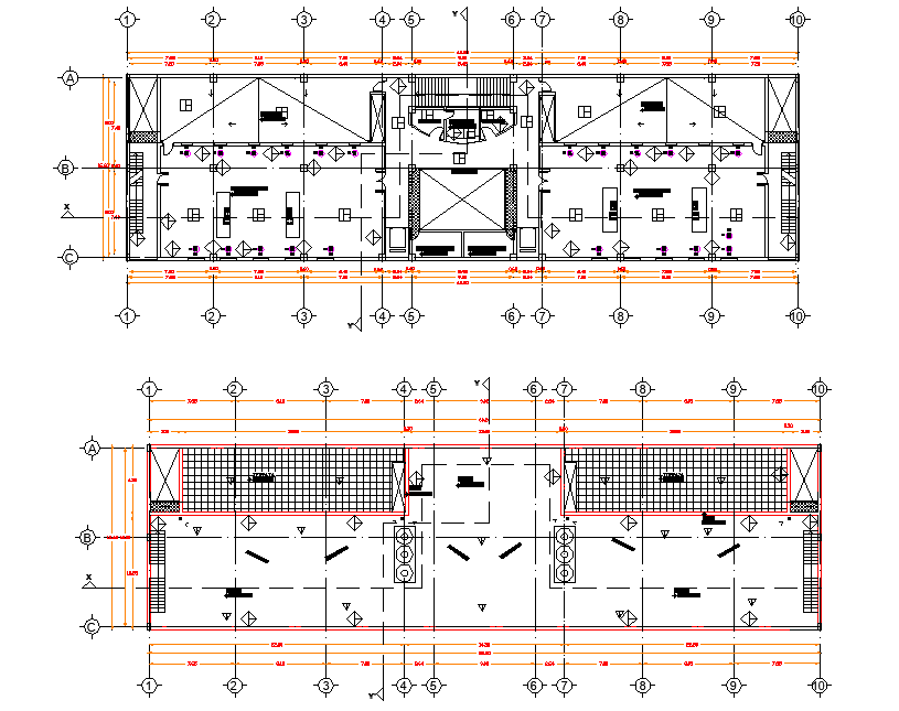 Office building detail dwg file