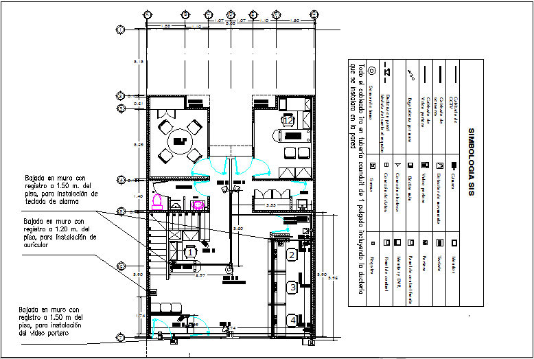 Office building elevation view detail dwg file