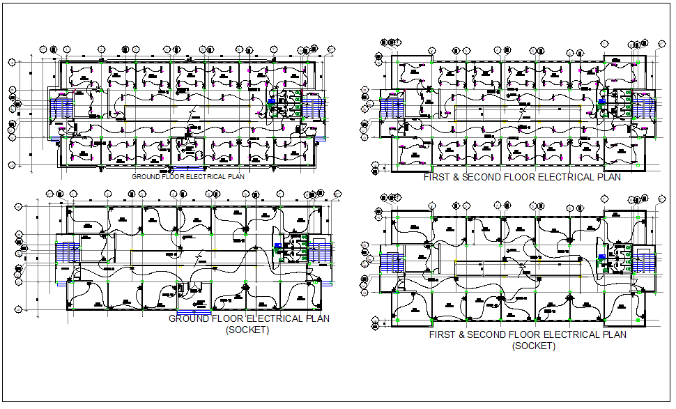 office building floor electrical plan layout detail view dwg industrial building electrical plan electrical plan building #7