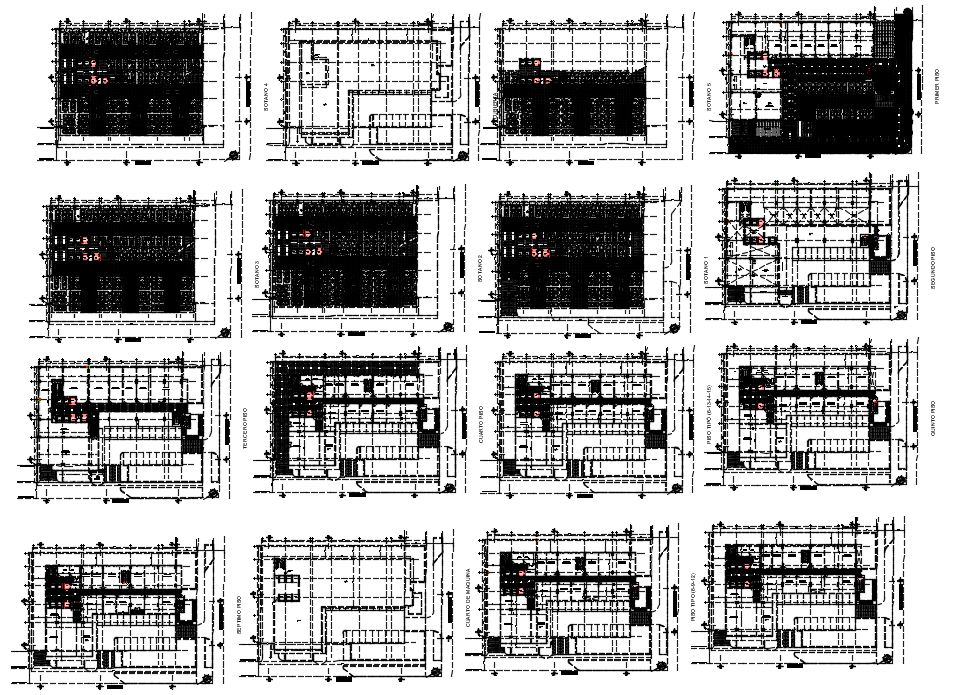 Office building plan dwg file
