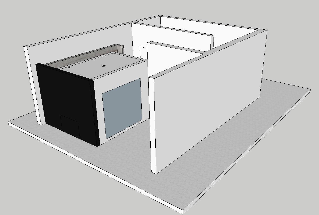 Office cabin partition furniture 3d drawing details skp file