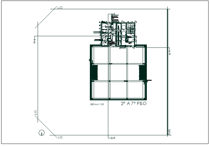 Office floor plan detail and area data detail dwg file