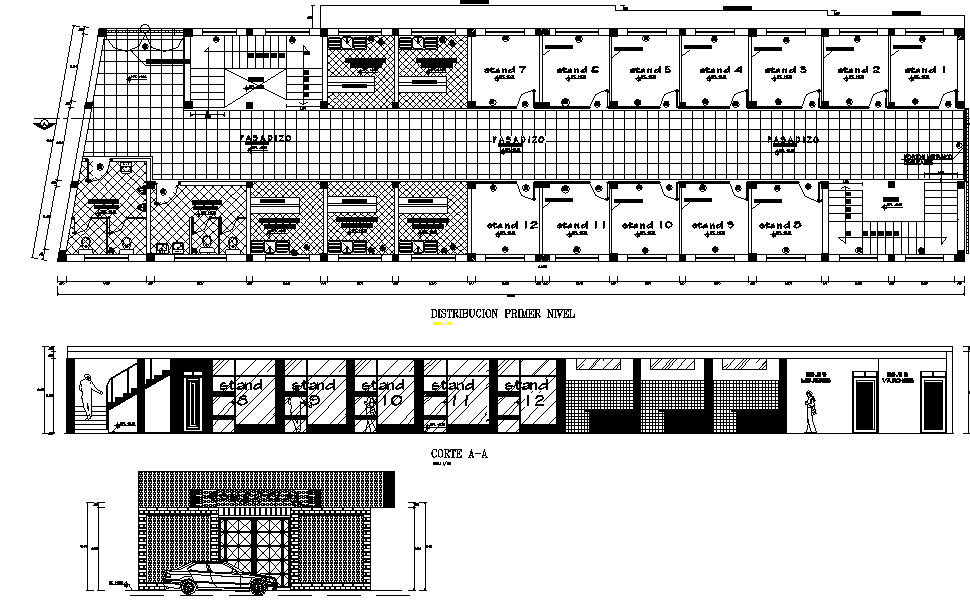 Office layout plan dwg file