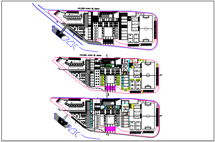 Office plan detail of ground floor plan dwg file