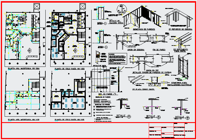 Offices project design drawing