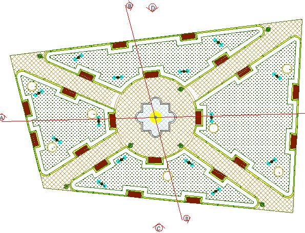 Open lawn layout plan dwg file