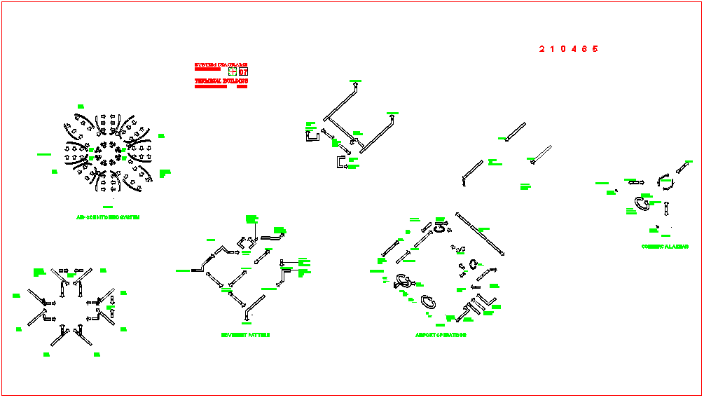 Operation diagram of airport