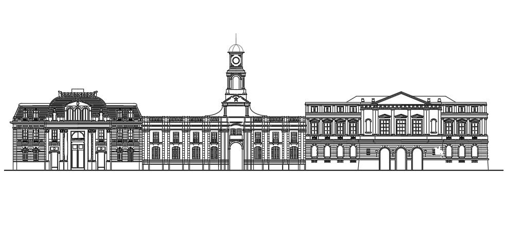 Palace Design In DWG File