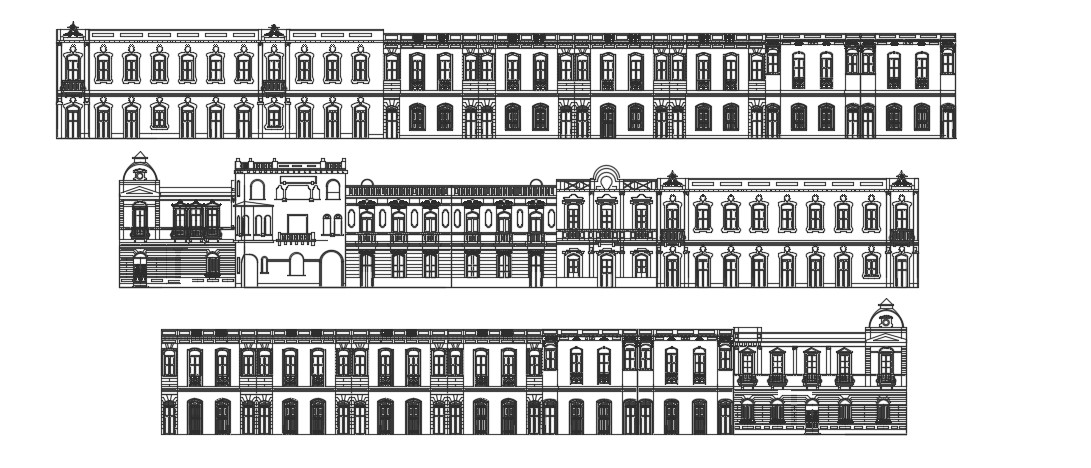 Palace Elevation In DWG File