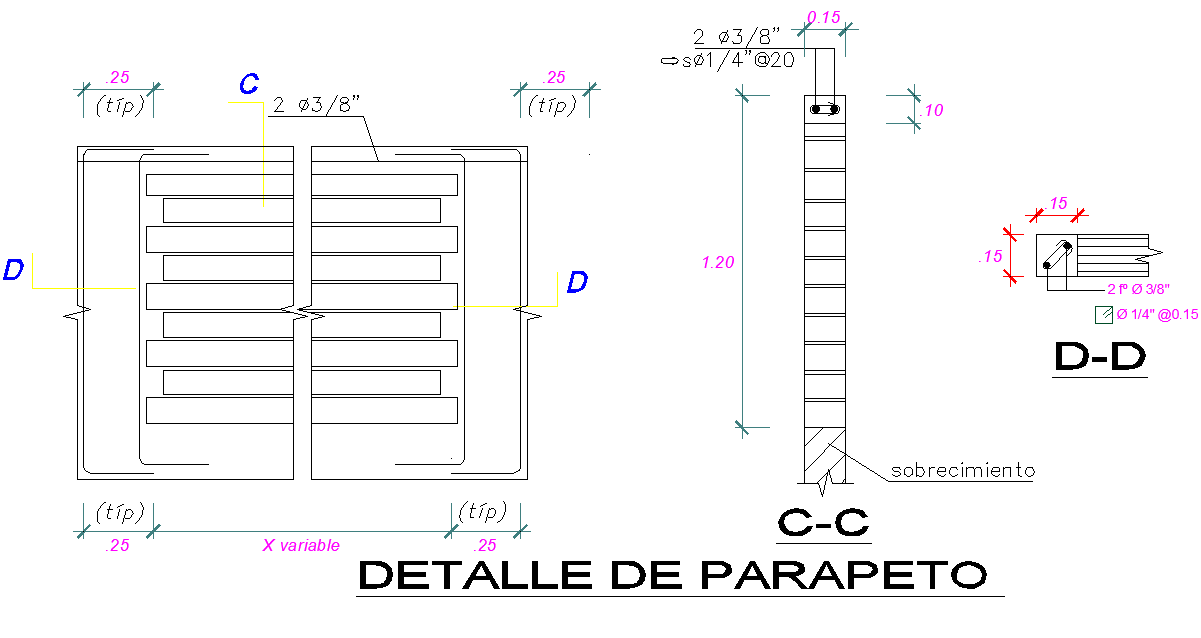 Parapet detail