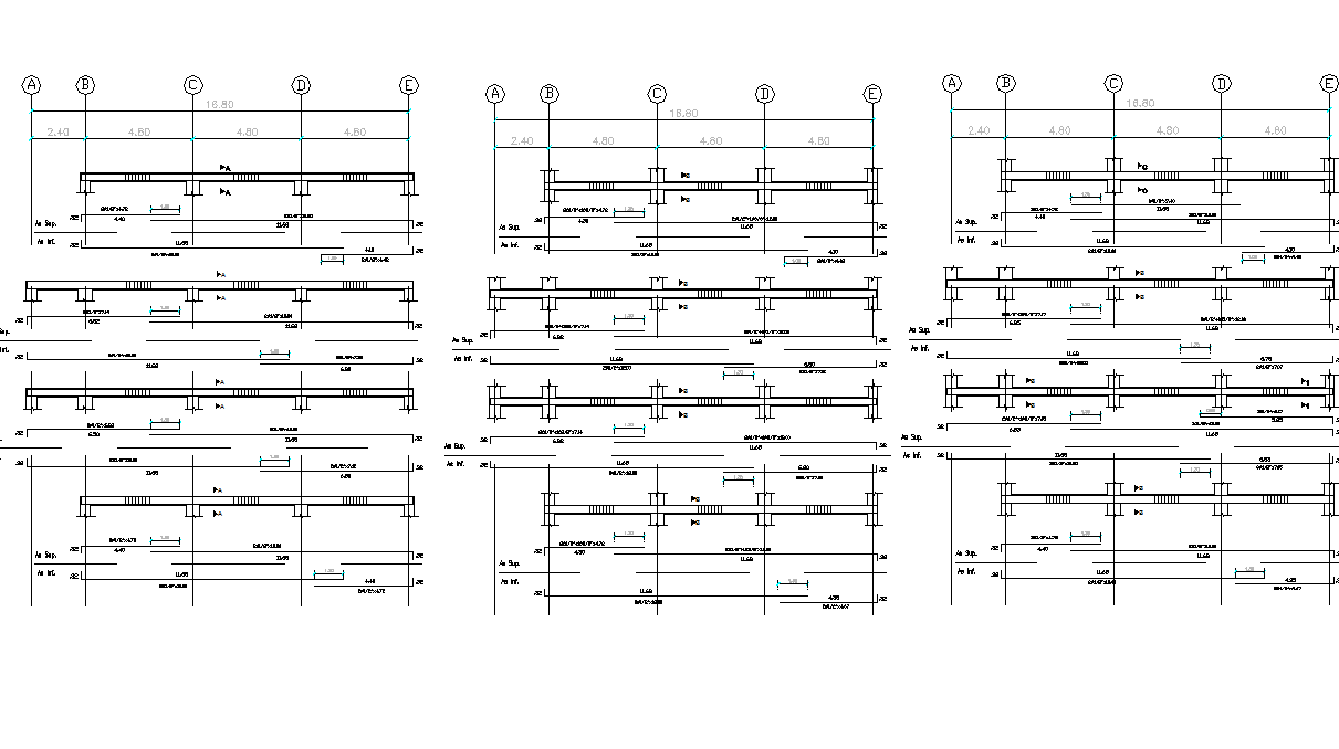 Parapet wall sectional detail dwg file