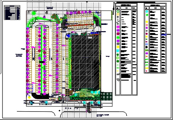 Parking and landscaping area design of corporate building