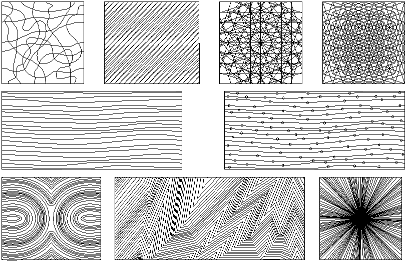 Pattern line detail dwg file