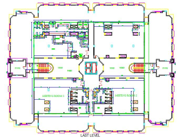 Pent house plan