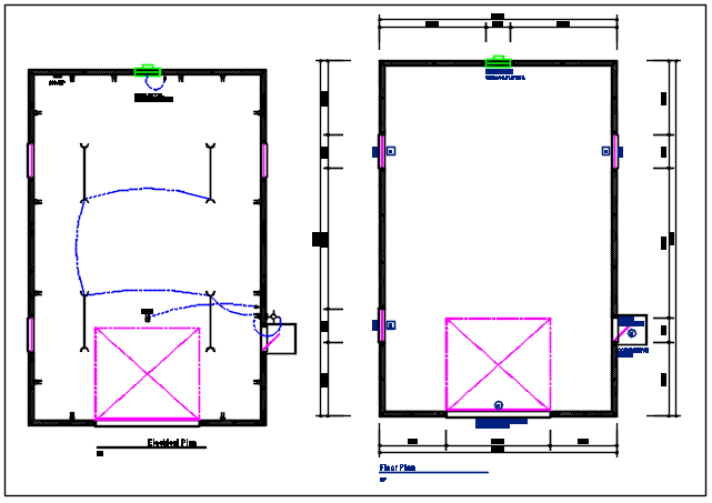 Plan detail and electrical plan detail dwg file