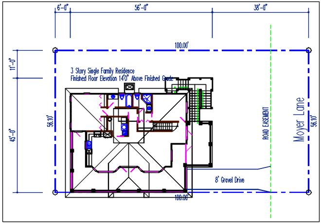 Plan layout detail dwg file