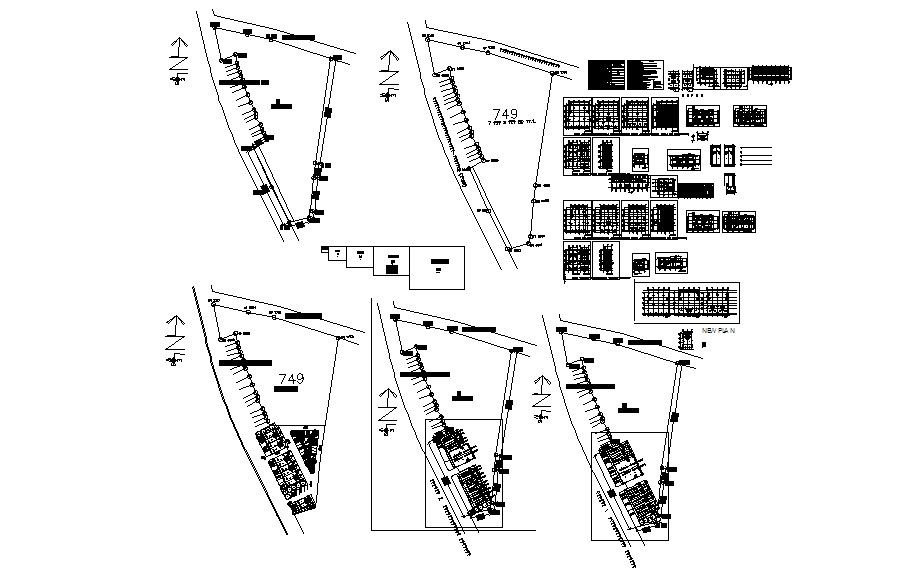 Plan of Apartment with detail dimension in AutoCAD