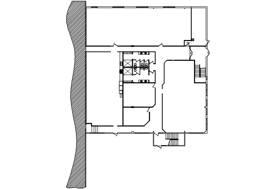 Building Plan With Dimensions In DWG File