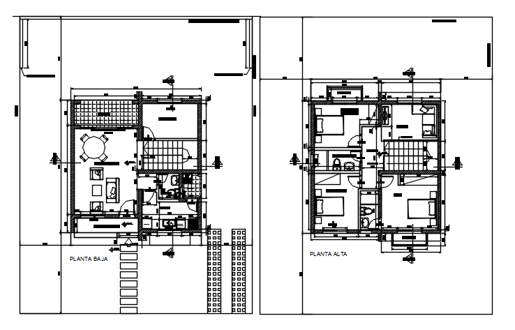 Plan of house 8.00mtr x 8.15mtr with detail dimension in dwg file