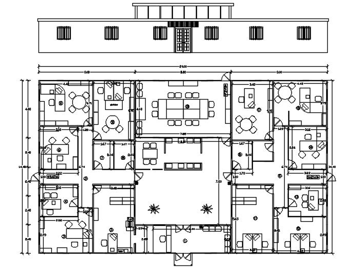Office Layout Plan In DWG File