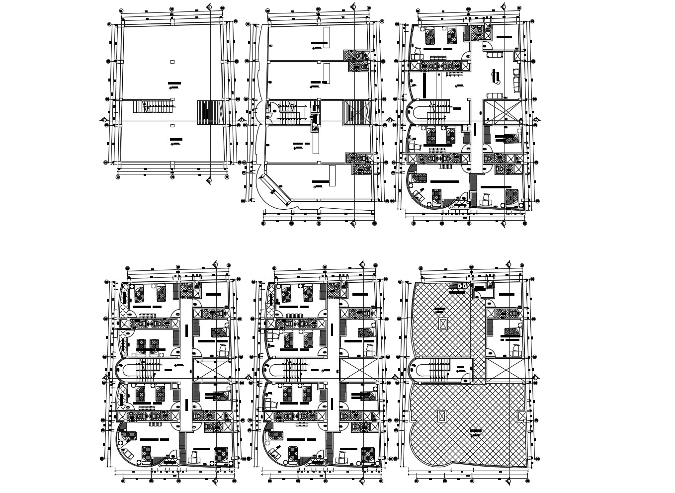 Residential Building Plans With Dimensions In AutoCAD File