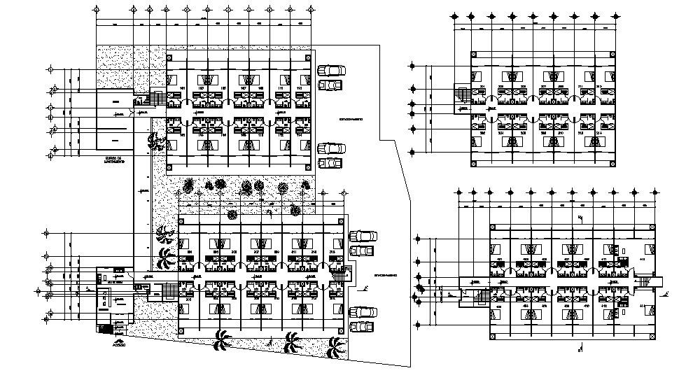 Hotel Floor Plan Design In AutoCAD File