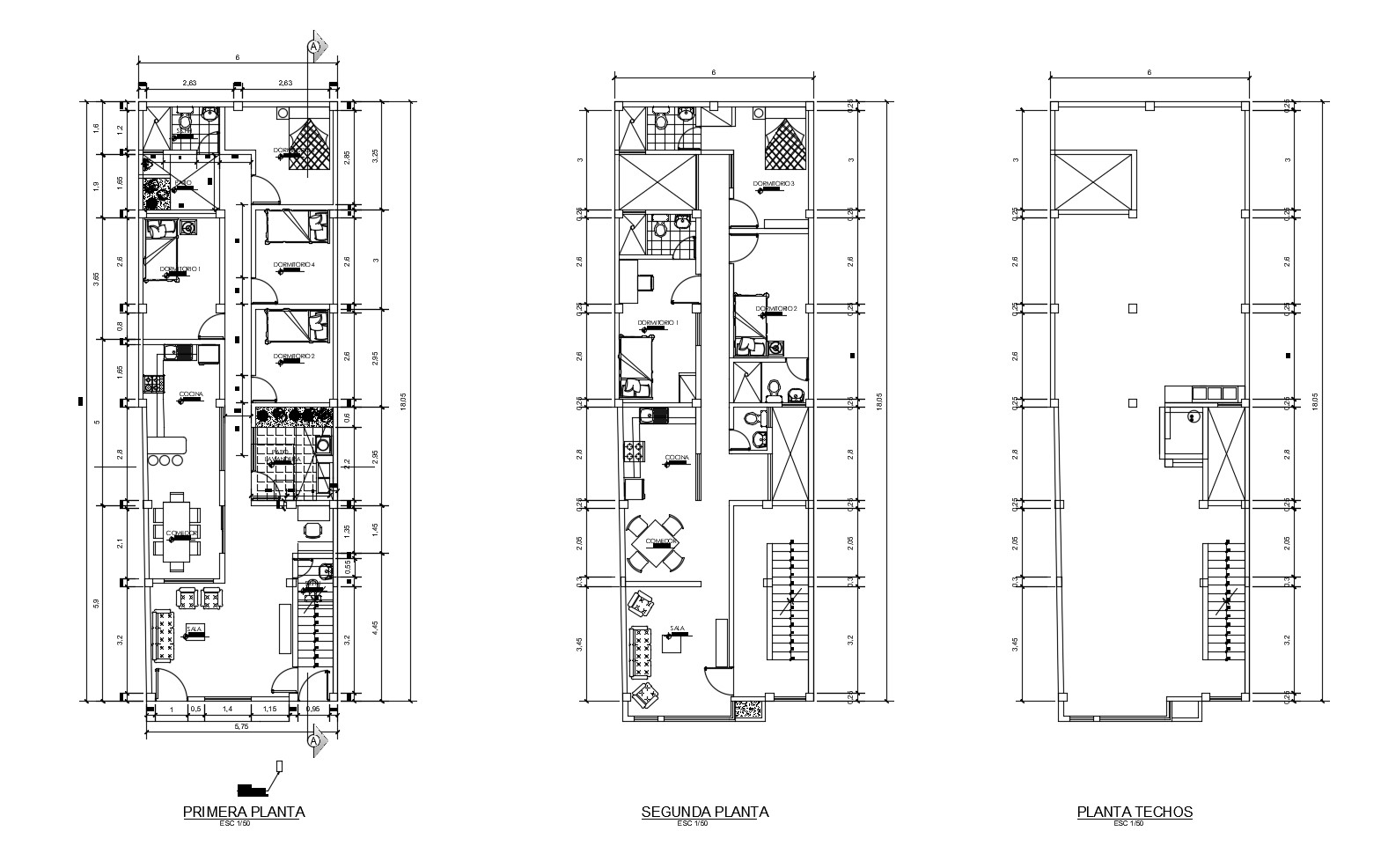 House Plan Elevation In DWG File