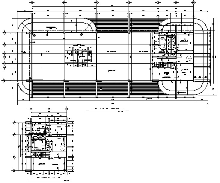 Planing central fire detail dwg file