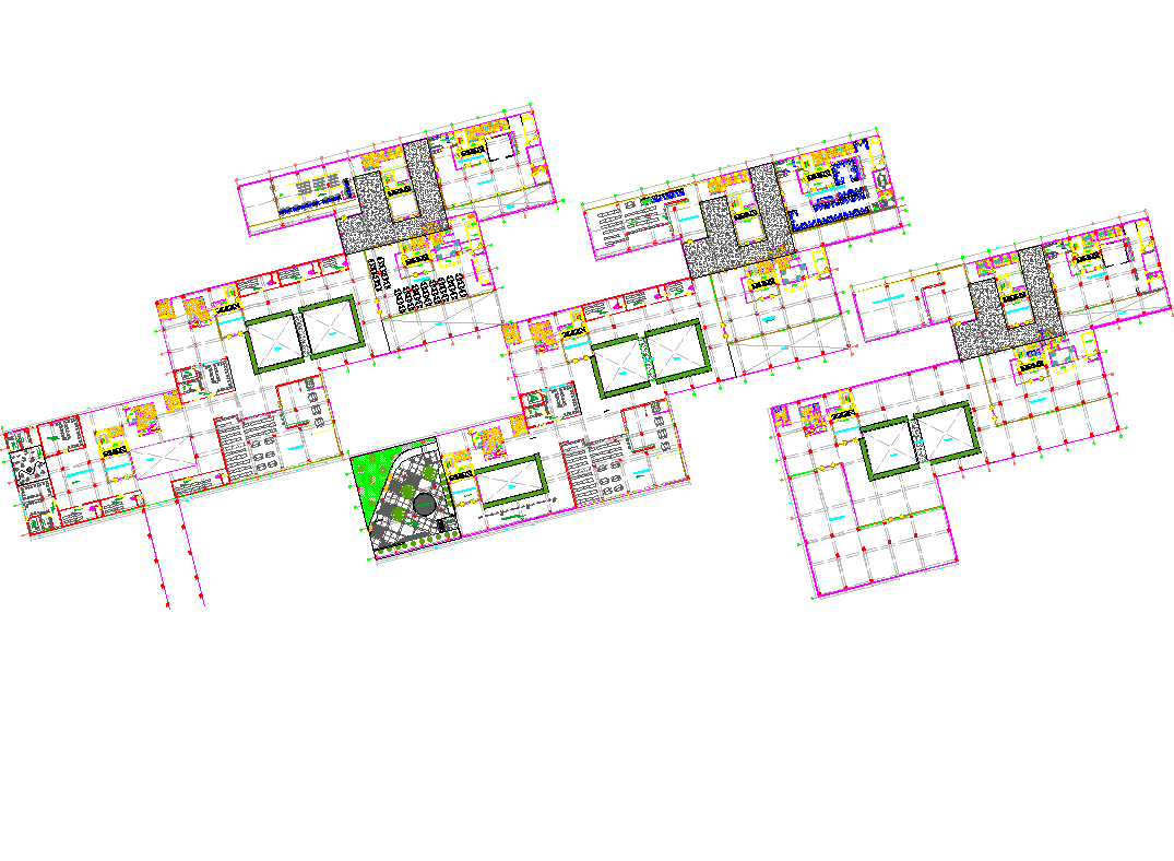 Planning business hub plan dwg file