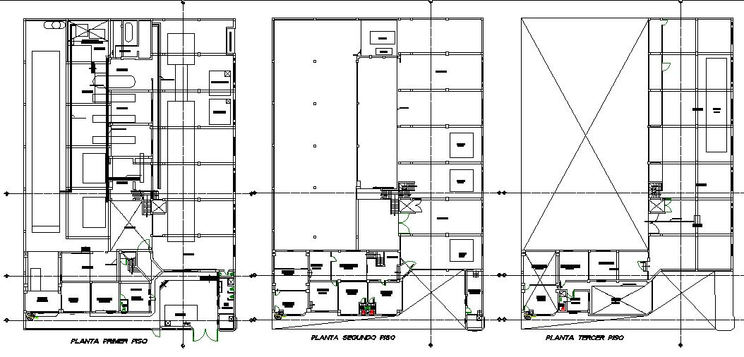 Planning textile factory plan detail dwg file