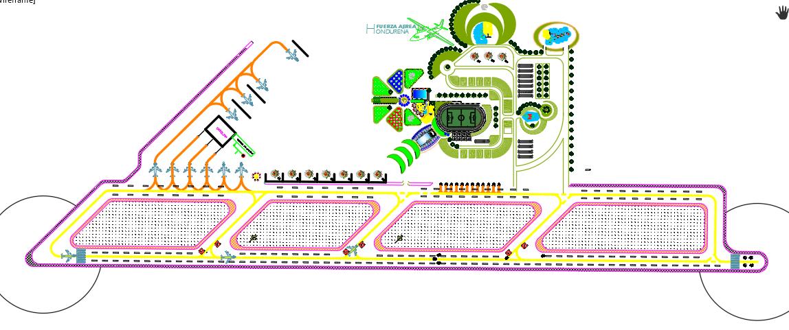 Plant airport runway set